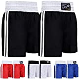 Farabi Pro Boxing Shorts for Boxing Training Punching, Sparring Fitness Gym Clothing Fairtex jiu Jitsu MMA Muay Thai Kickboxing Equipment Trunks (Black, X-Large)