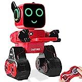 Ferngesteuerter Roboter & Geschenk für Kinder, interaktiver Roboter mit LED-Licht, Touch & Soundsteuerung, spricht, tanzt, spielt Musik, eingebaute Spardose, programmierbares & wiederaufladbares RC Roboter-Kit für Jungen, Mädchen aller Altersgruppen