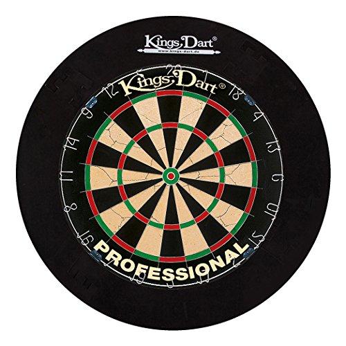 Kings Dart Dart-Set Profi   Turnier-Dartscheibe + Dart-Surround   Sisalborsten, Spider-Feldbegrenzung   Sicherheit für Wand und Darts   Für Soft- und Steeldarts   Markenqualität