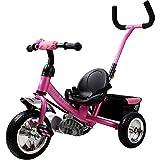 Dreirad Kinderdreirad Fahrrad Free Angel Kinder Kleinkinder Baby Sicherheitsgurt abnehmbare Lenkstange verstellbare Fußablage pink