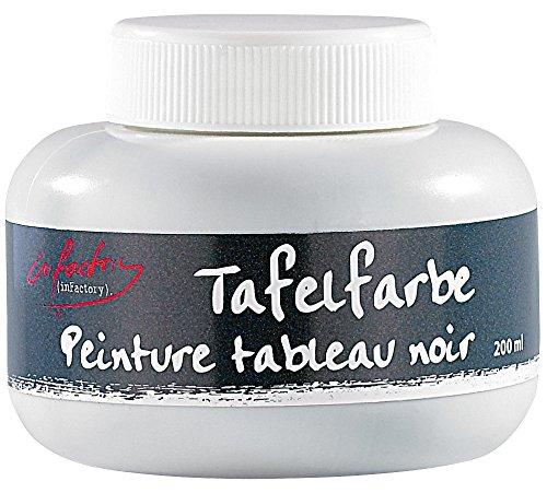 infactory Tafellack: Streichbare Tafelfarbe für mit Kreide beschriftbare Wände, 200 ml (Schultafelfarbe)