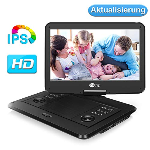 14 Zoll 178° IPS Tragbarer DVD Player Portable Fernseher Kinder Monitor Drehbarer Bildschirm 1920x1080 Full HD Video Filme 14002