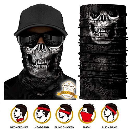Multifunktionstuch Gesichtsmaske Bedrucktes nahtlos veränderbaren Schädel Lätzchen Sport Reiten Sonnencreme Maske Schlauchtuch Halstuch Bandana Face Shield Bandana Ski Motorrad Paintball Maske