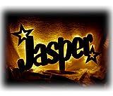 Schlummerlicht24 Led Möbel Nacht-Lichter Lampe 'Stern-Funkeln' mit individuell-em Name-n Personalisiert-e Baby Geschenk-e zur Taufe Geburt Kommunion Kind-er Baby-s Junge-n Mädchen