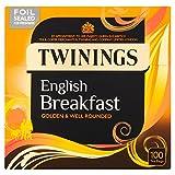 Twinings English Breakfast 100 Btl. 250g (Original englische Version) - Schwarzer Tee