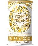 Vegan Protein | ERDNUSSBUTTER-BANANE | Pflanzliches Proteinpulver aus Reis, Hanfsamen, Erbsen, Chia-Samen, Leinsamen, Amaranth, Sonnenblumen- und Kürbiskernen | 600 Gramm Pulver