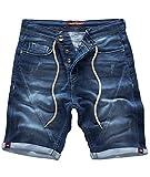 Rock Creek Herren Jogg Shorts Jeansshorts Denim Short Kurze Hose Herrenshorts Sommer Sweatshort Stretch Bermudas Dunkelblau RC-2200 Harbour Blue W31