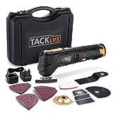Multifunktionswerkzeug, Tacklife PMT01B 24-tlg. Multifunktionswerkzeug 12V, 1.5Ah, Ladegerät (100-240V Weitspannung), variable Geschwindigkeit zum Schleifen, Schneiden und Polieren, im Profi-Koffer