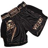 Venum Herren Giant Thaibox Shorts, Schwarz/Walt Tarnen, L