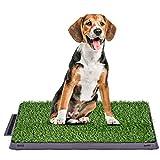 Bogeer Hundeklo Hundetoilette Trainingsunterlage für Kleine Hunde Grosse Hunde ältere Hunde Tier WC Indoor Welpentoilette Trainingsunterlage Gras mit Kunstrasen 63 x 50 cm
