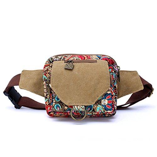 Sport Hüfttasche, Dopobo Gedruckte Printed Segeltuche Süße Tasche mit vielen Sacke