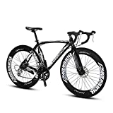 UK Versand Extrbici XC700 Sports Racing Road Fahrrad Pro 700Cx700MM Rad 54/56cm 26 Zoll Leichtes Aluminium Alloy Frame 16 Speed Shimano 2300 Shift Gears Hardtail Mans Road Bike Double Mechanische Scheibenbremsen Beliebte modische Rahmen Malerei mit freien Handschuhen und Schlüsselschloss