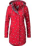 Peak Time Damen Softshell Mantel L60013 Rot/Weiß gepunktet Gr. XXL
