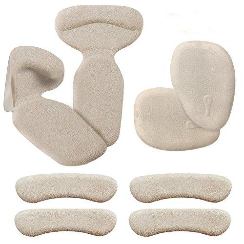 Fersenhalter (4 Paar) - Fersenpolster Antislip, Fersenkissen Fersenschutz und Vorfuß Kissen Unterstützung für Schmerzlinderung, Weich Komfortable Silikon-Gel Fersenhalter Kissen