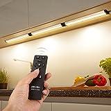 Albrillo 3er Pack 12W LED Unterbauleuchten dimmbare Schrankleuchte 900LM mit 360° Fernbedienung, IP40 und warmweiß, inkl. Montage-Zubehör