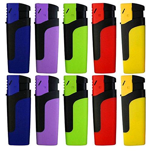 Sturmfeuerzeug 'MOSA' Turbo Feuerzeug 5 Farben JET FLAME Torch Gas Lighter (2x Alle Farben (10 Feuerzeuge))