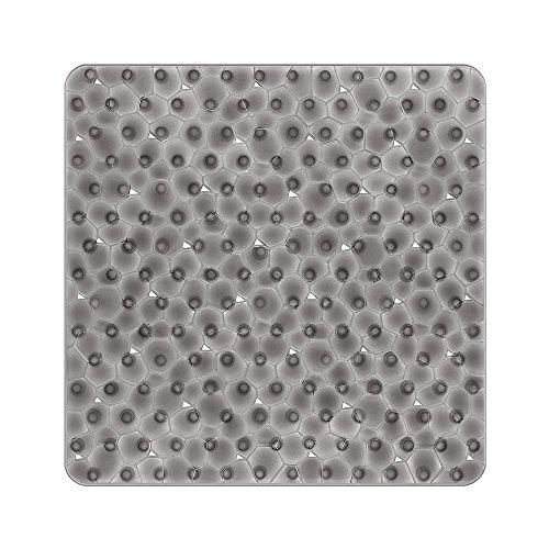 BliGli Wasser Cube PVC Anti-Schimmel Anti-Rutsch-Badematte mit Grip Saugnäpfen 54 * 54CM