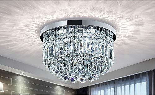 Moderne Klarem Kristall Regentropfen Kronleuchter Beleuchtung Unterputz LED Deckenleuchte Leuchte für Esszimmer Badezimmer Schlafzimmer Wohnzimmer E14 Glühbirnen Erforderlich H25cm X D50cm