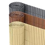 Ribelli PVC Sichtschutzmatte Sichtschutzzaun Sichtschutz Zaun Balkon Windschutz (80 x 300 cm, Bambus)