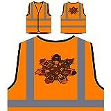 Business Besprechungstisch Neuheit Lustig Personalisierte High Visibility Orange Sicherheitsjacke Weste a821vo