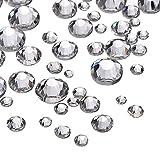 1200 Pack klare flache Rückseite Strasssteine, Runde Kristall Edelsteine variiert Größen erhältlich