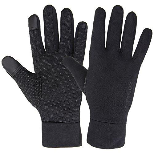 Alpidex Leichte Sporthandschuhe Laufhandschuhe WÅRM ÅP Running Handschuhe Unisex Sport Handschuhe Nordic Walking Handschuhe für Damen und Herren mit Touchscreen-Funktion, Größe:S, Farbe:black