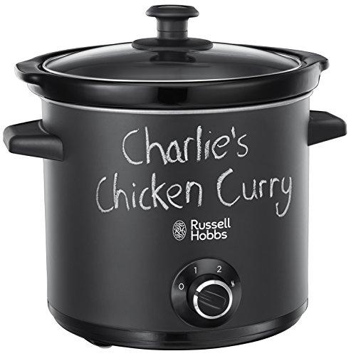 Russell Hobbs Chalkboard 24180-56 Schongarer, 200 W, 3,5l, Crock Pot, Slow Cooker mit matter, Tafel Oberfläche, schwarz