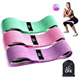 CFX Resistance Hip Bands, Fitnessbänder Set Yogagurt in 3 Zugkraftstärken Trainingsband Yogaband ALS Widerstand und Unterstützung fürs Beintraining, Krafttraining und Klimmzüge