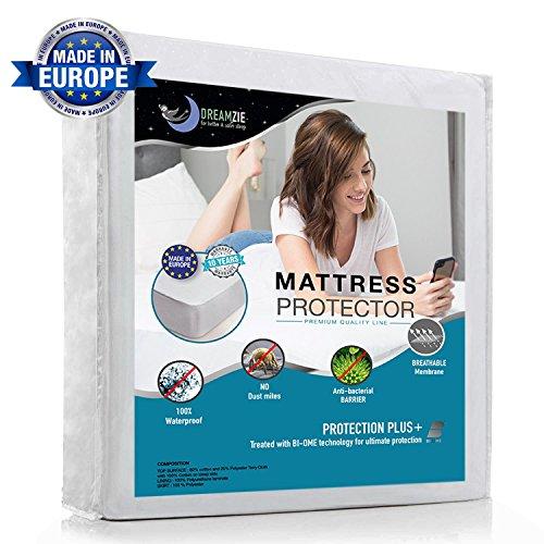 Wasserdichter Matratzenschoner 90 x 190 cm - Atmungsaktiv, Anti-Allergisch, gegen Milben Matratzenauflage für Kinder - Matratzenbezug mit neuartiger Behandlung: Optimaler Schutz - 10 Jahre Garanti