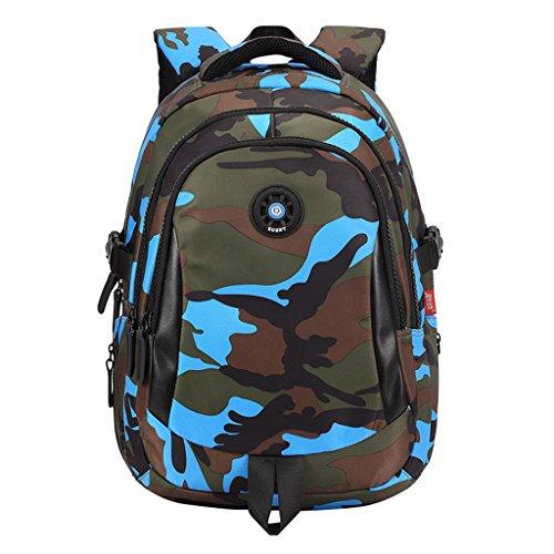 Jungen Schulrucksack Kinder Schule Rucksack Tarnung Tasche Sports Rucksack mit der Großen Kapazität GudeHome