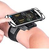 Newpon 180 Drehbares Laufen Sportarmband Handy :mit Schlüsselhalter für Apple iPhone XS Max XR X 8 7 6 6S Plus Samsung Galaxy S9+ S9 S8 S7 S6 Note 8 Google Pixel LG, für Sporttraining Übung Joggen