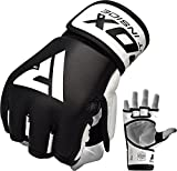 RDX MMA Handschuhe Profi Rindsleder UFC Kampfsport Sparring Freefight Sandsack Trainingshandschuhe Grappling Gloves(MEHRWEG)