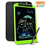 Richgv Bunte 12 Zoll LCD Writing Tablet mit Anti-Clearance Funktion und Stift, Digital Ewriter Grafiktabletts Mini Schreibtafel Papierlos Notepad Doodle Board für Kinder Über Jahre 3 (Grün)
