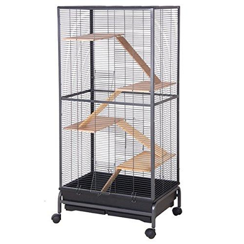 Montana Cages Nagervoliere, Käfig für Nager Malaga II - Antik im Bauhaus Stil für Hamster, Mäuse & Co. RIESIG