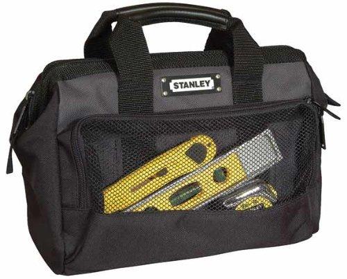 Stanley Werkzeugtasche / Werkzeugtrage (12', 30x25x13cm, robuste, kompakte Tasche für Werkzeuge, Trage aus 600x600 Denier Nylon, strapazierfähige Konstruktion) 1-93-330