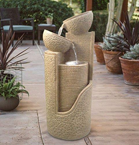 Solarspringbrunnen Solarbrunnen Dubai Garten Brunnen Kaskade Komplettset für Garten und Terrasse Tag und Nacht ! NEU