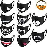 ZoWe 10 Stück Baumwolle Masken, Unisex Wiederverwendbar Mundschutz, Anti-Beschlag Maske, Kälteschutz Gesichtsmaske,