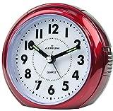 ATRIUM Wecker analog rot ohne Ticken, mit Licht und Snooze A240-1