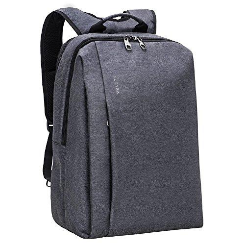 SLOTRA Business Laptop Rucksack 17 Zoll für Damen, Herren, Student,geeignet für Schule, Reisen, Outdoor Backpack 47x30x18cm (dunkelgrau)