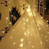 Lichterkette Strombetrieben, von myCozyLite, 15m mit EU stecker, 100er Warmweiß LED für Innen und Außen Deko wie Weihnachten, Party, Garten, Hochzeit, Erweiterbar, mit 31V DC Transformator und Timer