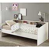 Funktionsbett 90*200 cm weiß Regalwand Kinderbett Jugendbett Bettliege Bett Jugendzimmer Kinderzimmer Gästezimmer Tagesbett