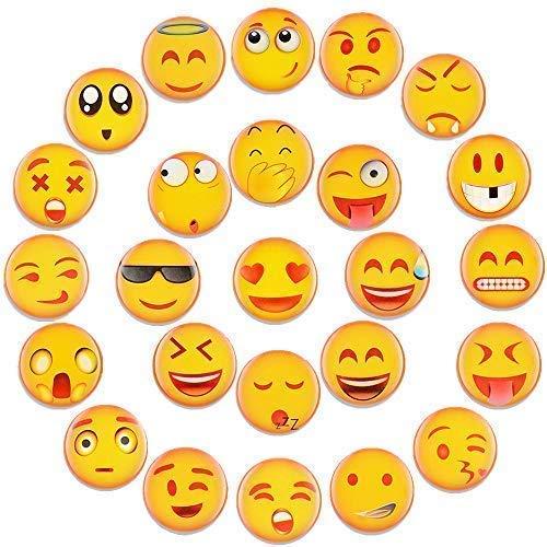 Emoji Magnete Kühlschrankmagnete Lustige Dekorative Kühlschrank Magnete Fridge Refrigerator Magnets Set Nette Küche Eisen Schließfächer Büro etc Zubehör Geeignet für Kleinkinder und Erwachsene 25PCS