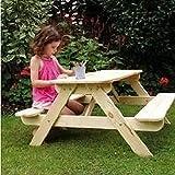 Trueshopping Panda Set Picknicktisch und Bänke, für 4 Kinder, ideal für Gartenpartys, einfacher Aufbau