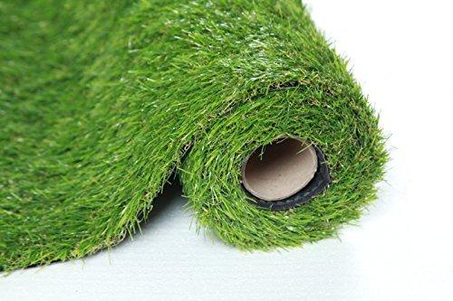Sumc Kunstrasen Rasenteppich für Garten Balkon Florhöhe 30mm Kunststoffrasen Teppich Grün 100x200cm Verkauf durch SUMC