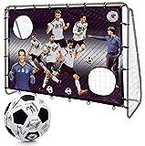 DFB Unisex Jugend 7 Wilde 213cm mit Unterschriftenball Fußballtor, Mehrfarbig, One Size