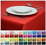 Rollmayer Tischdecke Tischtuch Tischläufer Tischwäsche Gastronomie Kollektion Vivid (Rot 12, 40x40cm) Uni einfarbig pflegeleicht waschbar 40 Farben