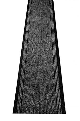 havatex Schmutzfang Läufer Kongo - und schadstoffgeprüft | pflegeleicht schmutzresistent robust und strapazierfähig | Flur Diele Eingang Küche Küchenteppich, Farbe:Anthrazit, Größe:80 x 200 cm
