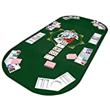 Faltbare Pokertischauflage Poker Tischauflage Pokertisch Casino Pokerauflage 160 x 80 cm