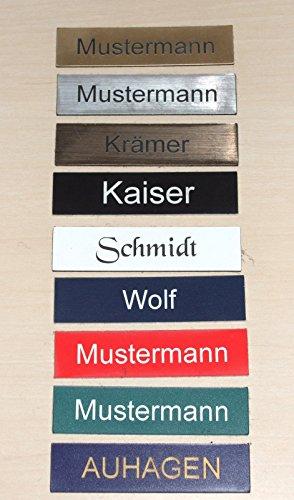 2-Stueck-Klingelschild-Tuerschild-Namensschild-Briefkastenschild-mit-Gravur