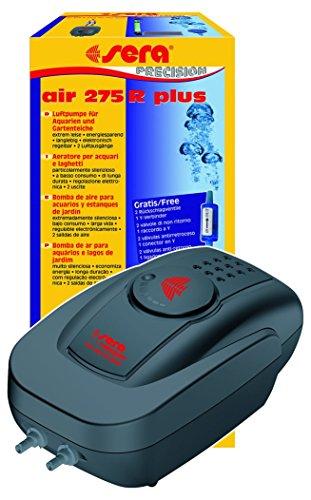 sera 08814 air 275 R plus - Luftpumpe für Aquarien 275 l/h bei 4 Watt - extrem leise, energiesparend, langlebig, elektronisch regelbar, 2 Luftausgänge